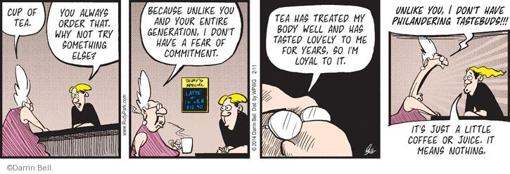 Comic Strip Darrin Bell  Rudy Park 2014-02-11 dining out