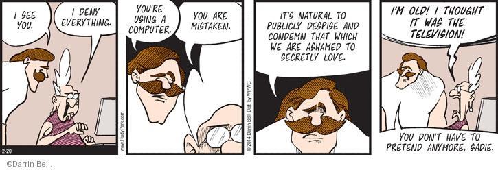 Comic Strip Darrin Bell  Rudy Park 2014-02-20 hatred