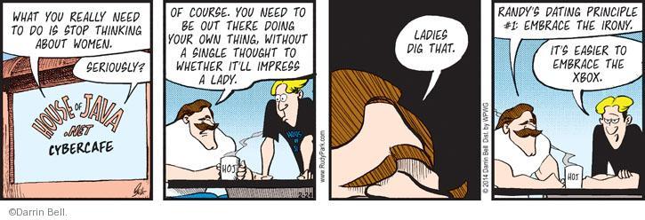 Cartoonist Darrin Bell  Rudy Park 2014-02-24 Xbox