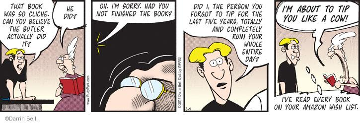 Comic Strip Darrin Bell  Rudy Park 2014-03-01 spiteful