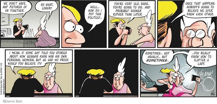 Cartoonist Darrin Bell  Rudy Park 2014-02-23 proof