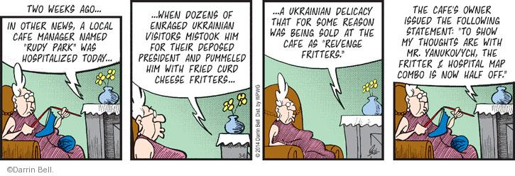 Comic Strip Darrin Bell  Rudy Park 2014-03-06 Ukraine