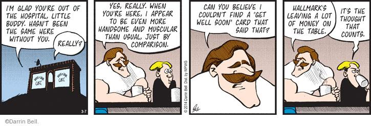 Comic Strip Darrin Bell  Rudy Park 2014-03-07 just left
