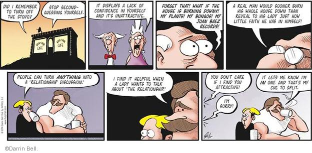 Comic Strip Darrin Bell  Rudy Park 2014-03-02 confidence