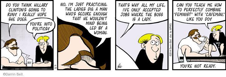 Cartoonist Darrin Bell  Rudy Park 2014-03-12 man