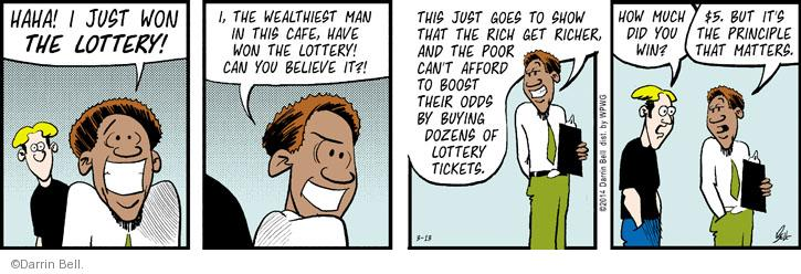 Comic Strip Darrin Bell  Rudy Park 2014-03-13 gamble