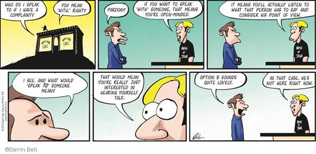 Comic Strip Darrin Bell  Rudy Park 2014-03-09 grammatical