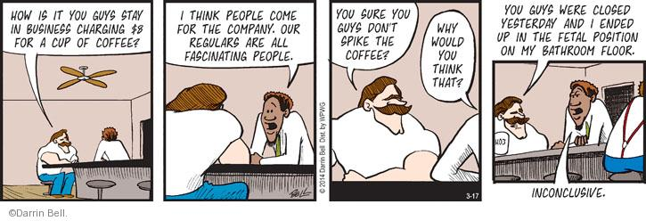 Comic Strip Darrin Bell  Rudy Park 2014-03-17 coffee cup