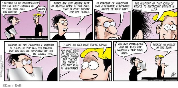Comic Strip Darrin Bell  Rudy Park 2014-03-30 waste time