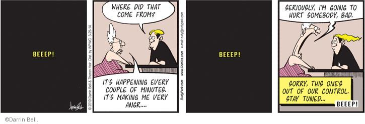 Comic Strip Darrin Bell  Rudy Park 2014-03-25 technology gadget