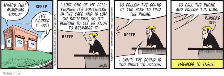 Comic Strip Darrin Bell  Rudy Park 2014-03-26 cell phone