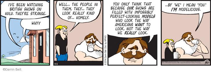 Comic Strip Darrin Bell  Rudy Park 2014-04-05 fill in