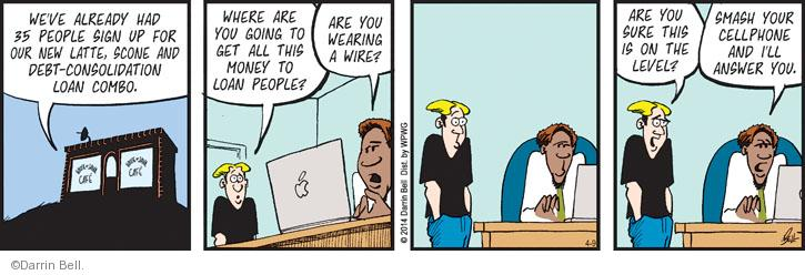 Comic Strip Darrin Bell  Rudy Park 2014-04-09 debt