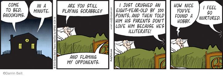 Comic Strip Darrin Bell  Rudy Park 2014-04-24 Scrabble