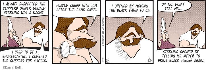 Comic Strip Darrin Bell  Rudy Park 2014-05-05 racism