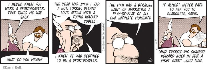 Comic Strip Darrin Bell  Rudy Park 2014-05-06 1940s