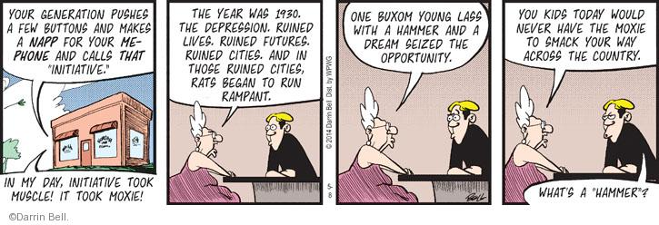 Cartoonist Darrin Bell  Rudy Park 2014-05-08 application