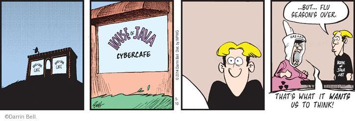 Cartoonist Darrin Bell  Rudy Park 2014-05-10 virus