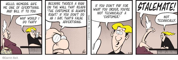 Comic Strip Darrin Bell  Rudy Park 2014-05-16 false advertising