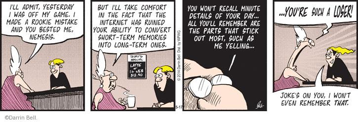 Comic Strip Darrin Bell  Rudy Park 2014-05-17 yesterday