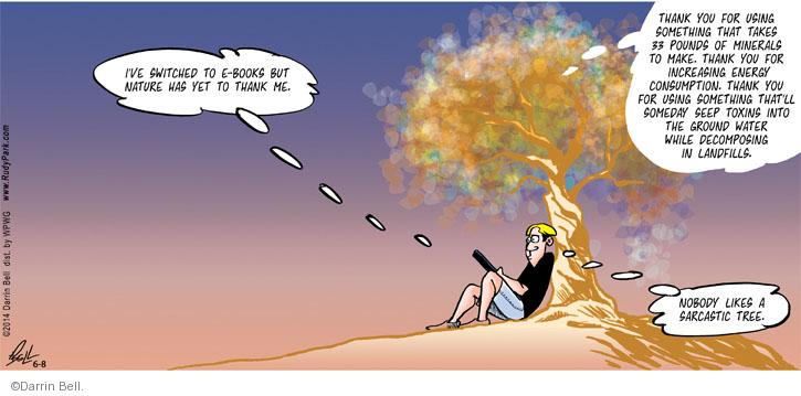 Cartoonist Darrin Bell  Rudy Park 2014-06-08 sarcasm