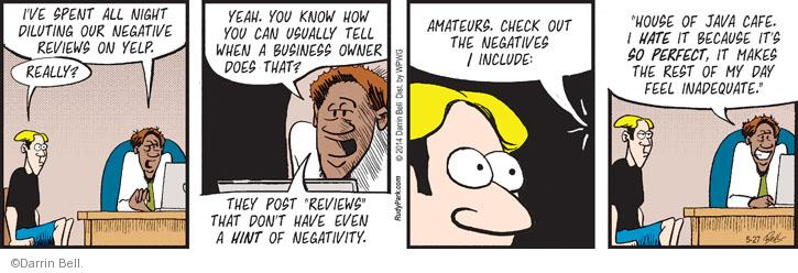 Comic Strip Darrin Bell  Rudy Park 2014-05-27 negative review