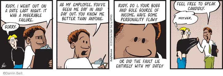 Comic Strip Darrin Bell  Rudy Park 2014-05-28 employee employer