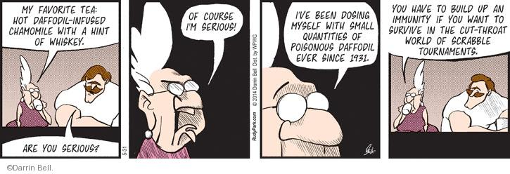 Comic Strip Darrin Bell  Rudy Park 2014-05-31 Scrabble