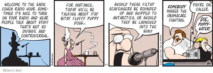 Comic Strip Darrin Bell  Rudy Park 2014-06-02 shipping