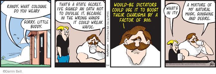 Cartoonist Darrin Bell  Rudy Park 2014-06-04 state