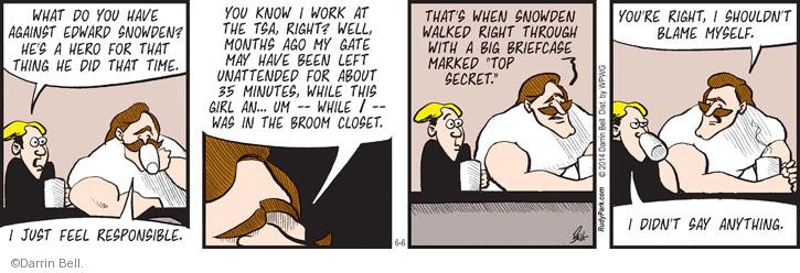 Comic Strip Darrin Bell  Rudy Park 2014-06-06 just left