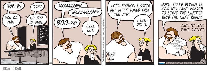 Comic Strip Darrin Bell  Rudy Park 2014-06-07 lingo