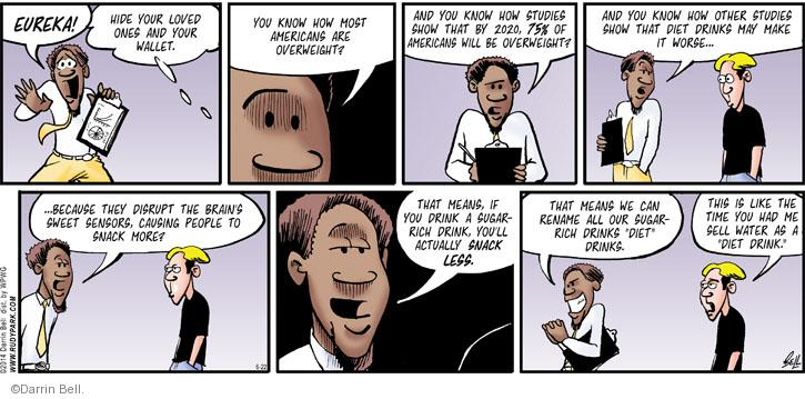 Comic Strip Darrin Bell  Rudy Park 2014-06-22 drink