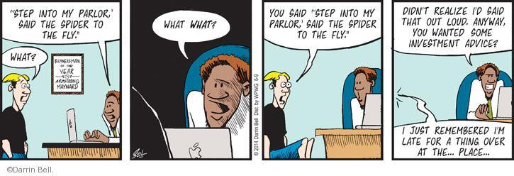 Cartoonist Darrin Bell  Rudy Park 2014-06-09 advice