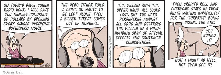 Comic Strip Darrin Bell  Rudy Park 2014-06-13 by hand