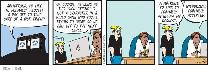 Comic Strip Darrin Bell  Rudy Park 2014-06-14 employee employer