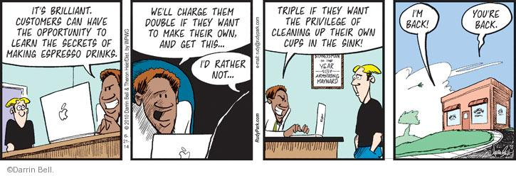 Comic Strip Darrin Bell  Rudy Park 2014-06-21 drink