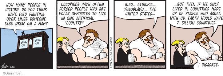 Cartoonist Darrin Bell  Rudy Park 2014-06-26 American History