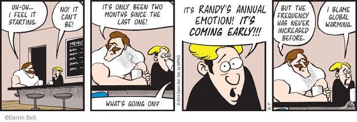 Comic Strip Darrin Bell  Rudy Park 2014-06-30 global warming