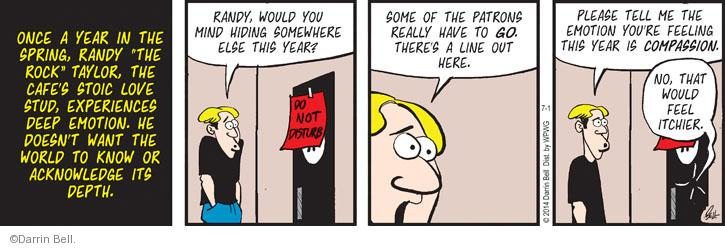 Comic Strip Darrin Bell  Rudy Park 2014-07-01 compassion