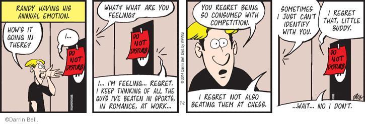Cartoonist Darrin Bell  Rudy Park 2014-07-02 annual