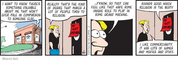 Comic Strip Darrin Bell  Rudy Park 2014-07-04 kind