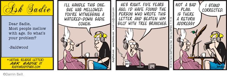 Comic Strip Darrin Bell  Rudy Park 2014-07-11 handle