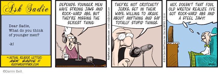Comic Strip Darrin Bell  Rudy Park 2014-07-12 relationship