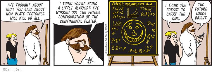 Comic Strip Darrin Bell  Rudy Park 2014-07-15 math science