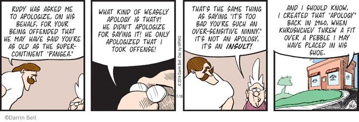Comic Strip Darrin Bell  Rudy Park 2014-07-18 same thing