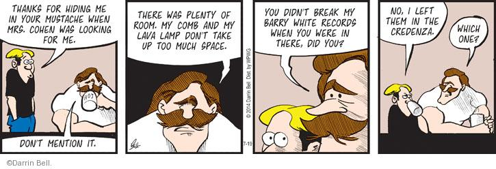 Comic Strip Darrin Bell  Rudy Park 2014-07-26 facial