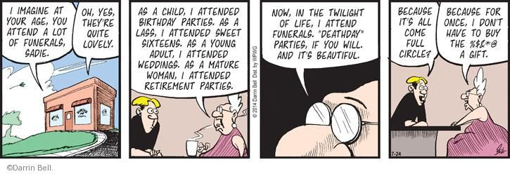Comic Strip Darrin Bell  Rudy Park 2014-07-24 adult