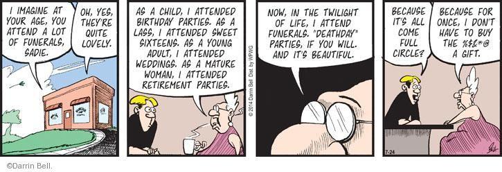 Comic Strip Darrin Bell  Rudy Park 2014-07-24 maturity