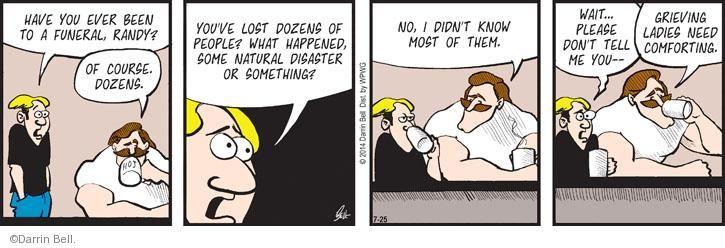 Cartoonist Darrin Bell  Rudy Park 2014-07-25 comfort